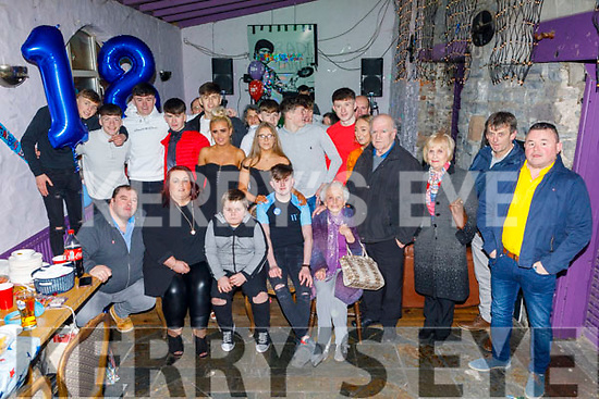 Darragh Healy from Tralee celebrating his 18th birthday in the Greyhound Bar on Saturday.<br /> Seated l to r: Tommy, Maura, Ryan and Darragh Healy and Patsy Griffin.