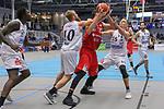 Wolfenbuettels Dejan Kovacevic (Nr.22)  ringt mit Essens Joseph Thomas Hart (Nr.10)  und Essens Marco Rahn (Nr.15) um den Ball beim Spiel in der Pro B, ETB Wohnbau Baskets Essen - MTV Herzoege Wolfenbuettel.<br /> <br /> Foto © PIX-Sportfotos *** Foto ist honorarpflichtig! *** Auf Anfrage in hoeherer Qualitaet/Aufloesung. Belegexemplar erbeten. Veroeffentlichung ausschliesslich fuer journalistisch-publizistische Zwecke. For editorial use only.