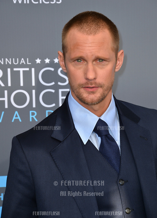 Alexander Skarsgard at the 23rd Annual Critics' Choice Awards at Barker Hangar, Santa Monica, USA 11 Jan. 2018<br /> Picture: Paul Smith/Featureflash/SilverHub 0208 004 5359 sales@silverhubmedia.com