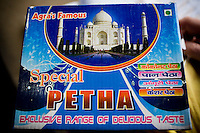 """Agra Ki Peitha"", the Agra speciality sweetened crystalized pumpkin sold to passengers by vendors who board the Himsagar Express 6318 as it passes through Agra, the city of Taj Mahal fame, on 7th July 2009.. .6318 / Himsagar Express, India's longest single train journey, spanning 3720 kms, going from the mountains (Hima) to the seas (Sagar), from Jammu and Kashmir state of the Indian Himalayas to Kanyakumari, which is the southern most tip of India...Photo by Suzanne Lee / for The National"