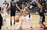 #20 Juwan Rice '15. The Occidental College men's basketball team plays against Chapman University in Rush Gym on Jan. 6, 2015. (Photo by Marc Campos, Occidental College Photographer)