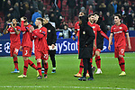 06.11.2019, BayArena, Leverkusen, GER, CL, Bayer 04 Leverkusen vs Atletico Madrid, UEFA regulations prohibit any use of photographs as image sequences and/or quasi-video <br /> <br /> im Bild Schlussjubel / Schlußjubel / Emotion / Freude / die Mannschaft von Leverkusen<br /> <br /> Foto © nordphoto/Mauelshagen