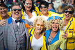 © Joel Goodman - 07973 332324. 05/08/2017 . Macclesfield , UK . People in costume as characters from TV show Hi-De-Hi at the Rewind Festival , celebrating 1980s music and culture , at Capesthorne Hall in Siddington . Photo credit : Joel Goodman