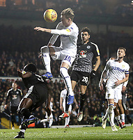 Leeds United's Ezgjan Alioski vies for possession with Reading's Andy Yiadom<br /> <br /> Photographer Rich Linley/CameraSport<br /> <br /> The EFL Sky Bet Championship - Leeds United v Reading - Tuesday 27th November 2018 - Elland Road - Leeds<br /> <br /> World Copyright © 2018 CameraSport. All rights reserved. 43 Linden Ave. Countesthorpe. Leicester. England. LE8 5PG - Tel: +44 (0) 116 277 4147 - admin@camerasport.com - www.camerasport.com