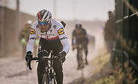 Zdenek Stybar (CZE/Quick-Step Floors) speeding over the cobbles<br /> <br /> 50th GP Samyn 2018<br /> Quaregnon &gt; Dour: 200km (BELGIUM)