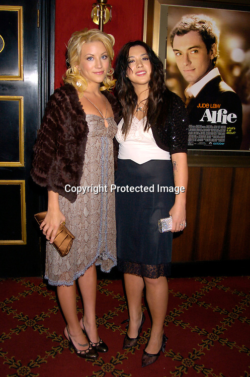 "Jessica Harp and Michelle Branch ..at The New York Premiere of "" Alfie"" on October 18, 2004 ..at The Ziegfeld Theatre. ..Photo by Robin Platzer, Twin Images"