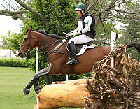 LEXINGTON, KY - April 29, 2017. #53 Luckaun Quality and Tim Bourke from Ireland finish in 9th place after competing in the Cross Country test at the Rolex Three Day Event at the Kentucky Horse Park.  Lexington, Kentucky. (Photo by Candice Chavez/Eclipse Sportswire/Getty Images)