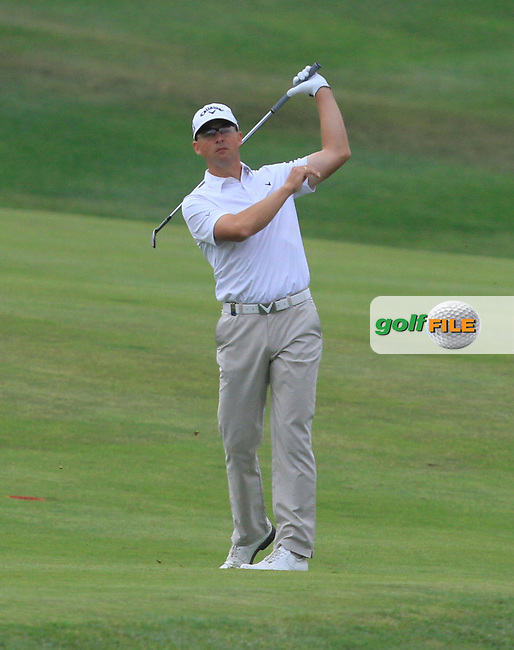 Niclas Fasth (SWE) on the 12th fairway during Round 1 of the Open de Espana  in Club de Golf el Prat, Barcelona on Thursday 14th May 2015.<br /> Picture:  Thos Caffrey / www.golffile.ie