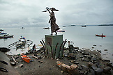 PHILIPPINES, Palawan, Puerto Princesa, statue of Eulalia the princes of Spain in the City Port Area