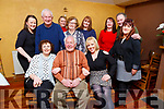 Kevin Walsh from Casements Ave celebrating his 75th birthday in Stokers Lodge on Friday night. <br /> Seated l to r: Siobhan Brown, Kevin and Lorraine walsh.<br /> Standing: Tina Dunne, Eddie Stack, Kate Reidy, Kevin Stack, Maria Lonergan, Geraldine Hourigan, Jackie and Christy Lynch and Carmel Russell.