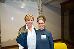 Winsted, CT-19, October 2017-101917CM01 Social moments from left, Maggie Gardner and Amy Wynn, with the Northwest Connecticut Arts Council are photographed during a CultureMIX event sponsored by The Northwest Connecticut Arts Council at the Mad River Lofts in Winsted on Thursday.   Christopher Massa Republican-American