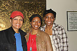 "Guiding Light ""Vivian Grant"" and Another World Petronia Paley stars along with Vichelle Jones and Chantal Jean-Pierre (R) (was on AMC as ""Erika Kane's therapist and OLTL) in ""A Raisin in the Sun"" on April 30, 2011 at the Crossroads Theatre, New Brunswick, New Jersey. (Photo by Sue Coflin/Max Photos)"