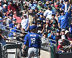 Kenta Maeda (Dodgers),<br /> MARCH 10, 2016 - MLB :<br /> Kenta Maeda of the Los Angeles Dodgers walks back to the dugout after the bottom of the third inning during a spring training baseball game against the Oakland Athletics at Hohokam Stadium in Mesa, Arizona, United States. (Photo by AFLO)