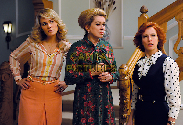 Judith Godreche, Catherine Deneuve & Karin Viard.in Potiche.*Filmstill - Editorial Use Only*.CAP/PLF.Supplied by Capital Pictures.