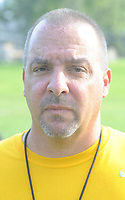 Head coach Steve Devlin poses for a photograph during football practice Thursday, August 10, 2017 at Archbishop Wood in Warminster, Pennsylvania. (Photo by William Thomas Cain)