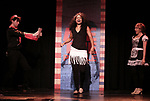 Richard Spitaletta, Aiesha Alia Dukes, and Mia Weinberger perform onstage during the 'ME THE PEOPLE: The Trump America Musical' Press Preview Presentation at The Triad Theater on June 21, 2017 in New York City.