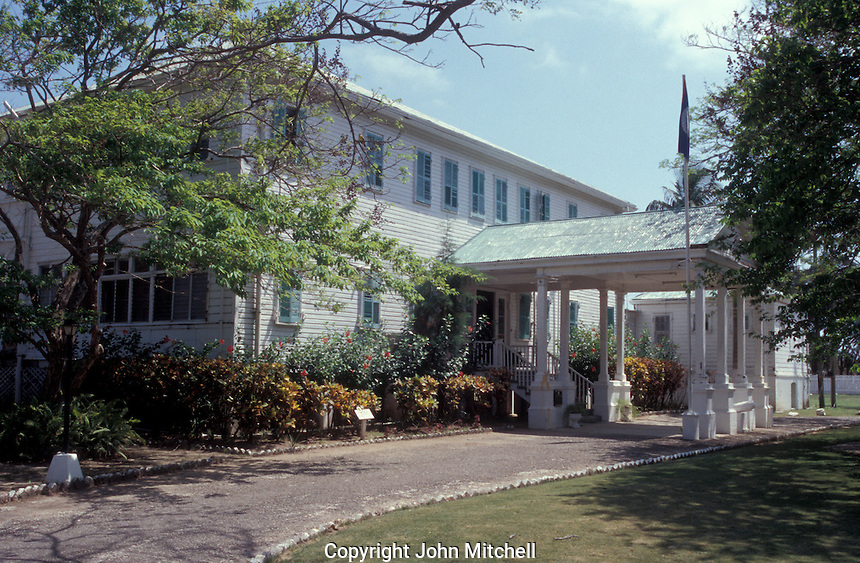 Government House in Belize City, Belize. This former residence of the governor general is now a museum called the House of Culture.