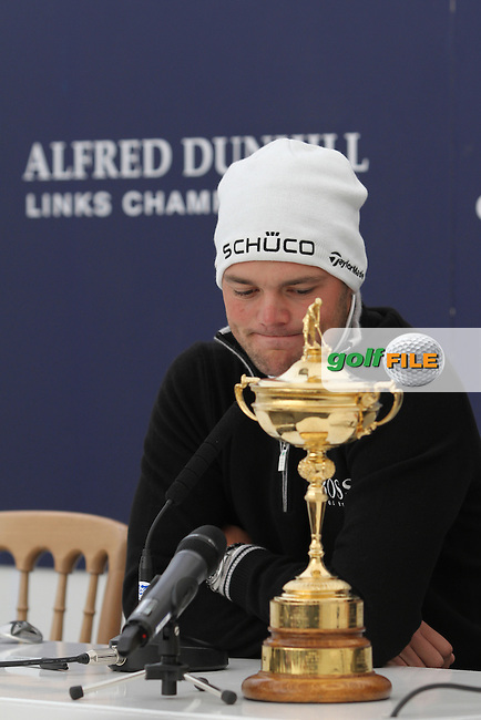 Martin Kaymer (GER) in the interview room on Wednesday's Practise Day at the Alfred Dunhill Links Championship, Old Course St. Andrews, Carnoustie and Kingsbarns, Scotland...(Photo Jenny Matthews/www.golffile.ie)