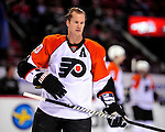 7 December 2009: Philadelphia Flyers' defenseman Chris Pronger warms up prior to a game against the Montreal Canadiens at the Bell Centre in Montreal, Quebec, Canada. The Canadiens defeated the Flyers 3-1. Mandatory Credit: Ed Wolfstein Photo