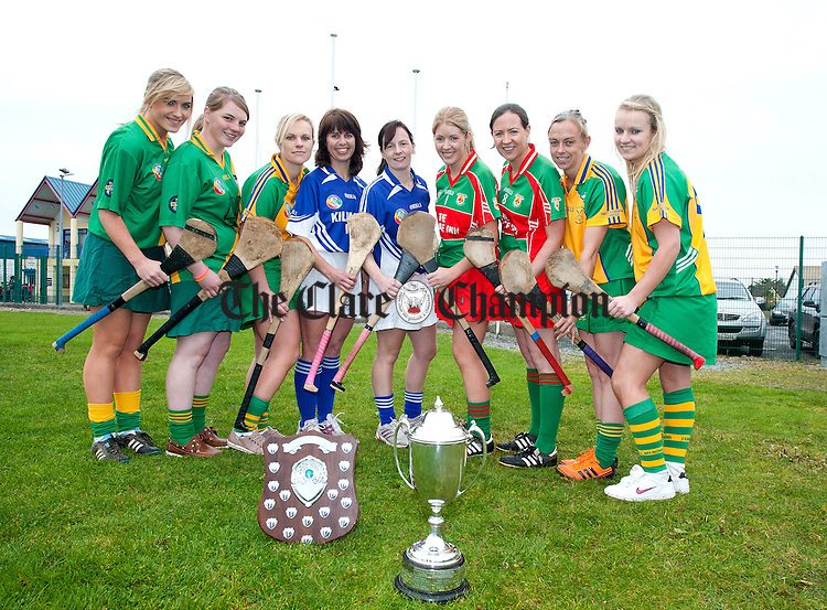 071012.L-R Kate Lynch, Kate O'Gorman, Emily Lynch, Siobhan Maher, Aida Griffey, Sheelagh Daffy, Edwina O'Brien, Michelle Wynne and Gillian Lafferty at Clarecastle on Sunday.