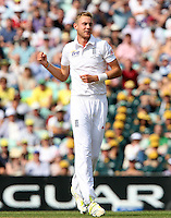 Stuart Broad of England celebrates taking the wicket of Brad Haddin - England vs Australia - 5th day of the 5th Investec Ashes Test match at The Kia Oval, London - 25/08/13 - MANDATORY CREDIT: Rob Newell/TGSPHOTO - Self billing applies where appropriate - 0845 094 6026 - contact@tgsphoto.co.uk - NO UNPAID USE