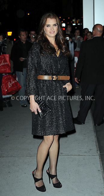 WWW.ACEPIXS.COM . . . . . ....November 17 2009, New York City....Actress Brooke Shields arriving at a Tribute to Tim Burton at The Museum of Modern Art on November 17, 2009 in New York City.....Please byline: KRISTIN CALLAHAN - ACEPIXS.COM.. . . . . . ..Ace Pictures, Inc:  ..tel: (212) 243 8787 or (646) 769 0430..e-mail: info@acepixs.com..web: http://www.acepixs.com