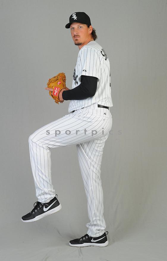 Chicago White Sox Jeff Samardzja (29) during photo day on February 28, 2015 in Glendale, AZ.