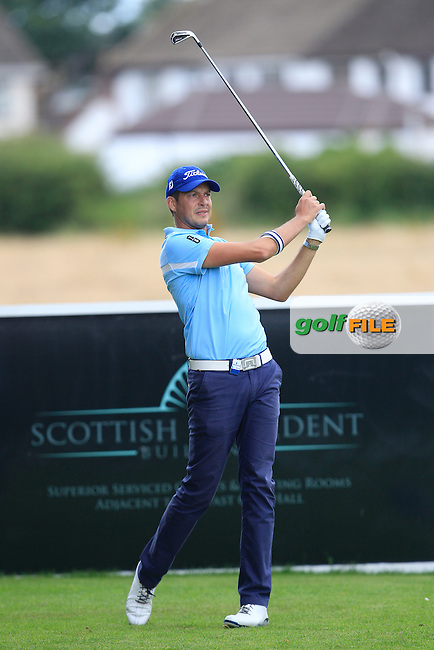 Simon Thornton (IRL) on the 4th tee during Round 2 of the Northern Ireland Open in Association with Sphere Global &amp; Ulster Bank at Galgorm Castle Golf Club on Friday 7th August 2015.<br /> Picture:  Thos Caffrey / www.golffile.ie