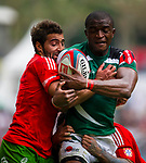 Portugal play Kenya in a Cup Quarter Final on Day 3 of the Cathay Pacific / HSBC Hong Kong Sevens 2013 on 24 March 2013 at Hong Kong Stadium, Hong Kong. Photo by Manuel Queimadelos / The Power of Sport Images