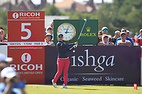 Mamiko Higa (JPN) on the 5th tee during Round 4 of the Ricoh Women's British Open at Royal Lytham &amp; St. Annes on Sunday 5th August 2018.<br /> Picture:  Thos Caffrey / Golffile<br /> <br /> All photo usage must carry mandatory copyright credit (&copy; Golffile | Thos Caffrey)