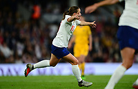 Fran Kirby of England celebrates after she scores to make it 1-0 during the Women's International friendly match between England Women and Australia at Ashton Gate, Bristol, England on 9 October 2018. Photo by Bradley Collyer / PRiME Media Images.