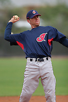 Cleveland Indians minor leaguer David Uribes during Spring Training at the Chain of Lakes Complex on March 16, 2007 in Winter Haven, Florida.  (Mike Janes/Four Seam Images)