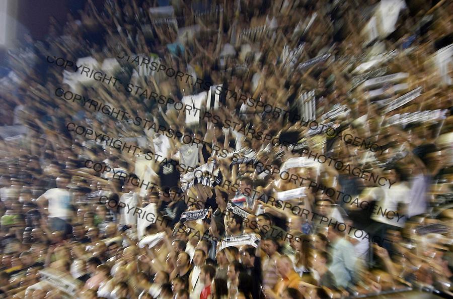 Navijaci Jug Grobari Supporters Fan Fans Sport Kosarka Basketball Play Off Plej Of Swisslion Liga Finale Crvena Zvezda Partizan Beograd Srbija 23.5.2009. (credit image © photo: Pedja Milosavljevic / STARSPORT)