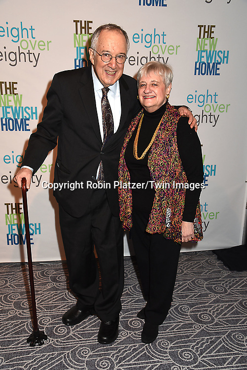 Stephen Solender and wife Elsa Solender attends The New Jewish Home Gala Honoring 8 Over 80 on March 12, 2018 at the Ziegfeld Ballroom in New York, New York, USA.<br /> <br /> photo by Robin Platzer/Twin Images<br />  <br /> phone number 212-935-0770