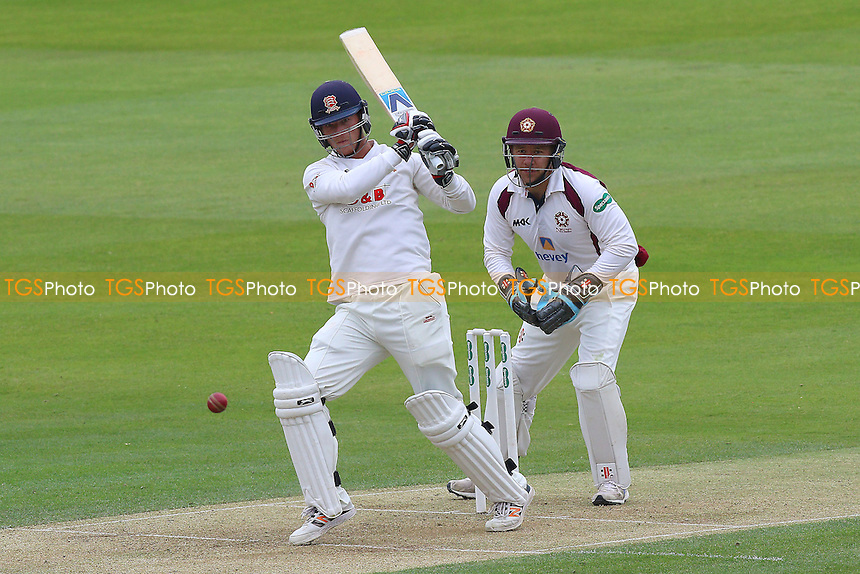 Tom Westley in batting action for Essex as Adam Rossington looks on from behind the stumps during Essex CCC vs Northamptonshire CCC, Specsavers County Championship Division 2 Cricket at the Essex County Ground on 24th April 2016