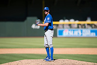 Kansas City Royals relief pitcher Walker Sheller (28) prepares to deliver a pitch during an Instructional League game against the Arizona Diamondbacks at Chase Field on October 14, 2017 in Scottsdale, Arizona. (Zachary Lucy/Four Seam Images)