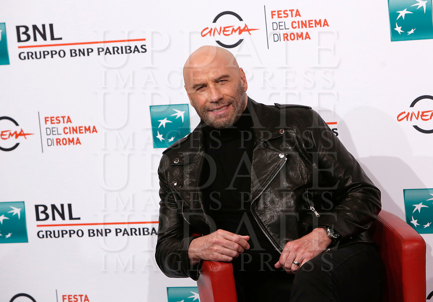 Actor John Travolta poses for a photocall during the 14^ Rome Film Fest  at Rome's Auditorium, October 22, 2019.<br /> UPDATE IMAGES PRESS/Riccardo De Luca