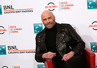 Actor John Travolta poses for a photocall during the 14^ Rome Film Fest  at Rome's Auditorium, October 22, 2019.<br />