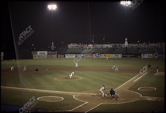 Minor league basaeball, night game, Nashville, Tennessee, USA, May 1990