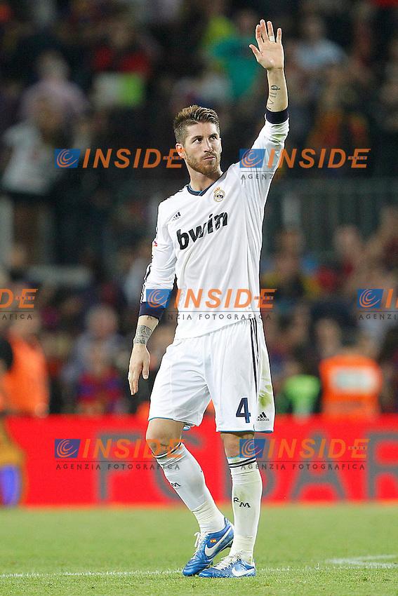 Real Madrid's Sergio Ramos during la Liga match on october 7th 2012. ..Photo: Cesar Cebola  / ALFAQUI .Barcellona 7/10/2012 Camp Nou.Football Calcio 2012/2013 Liga.Barcellona Real Madrid.Foto Insidefoto / Alterphotos.ITALY ONLY