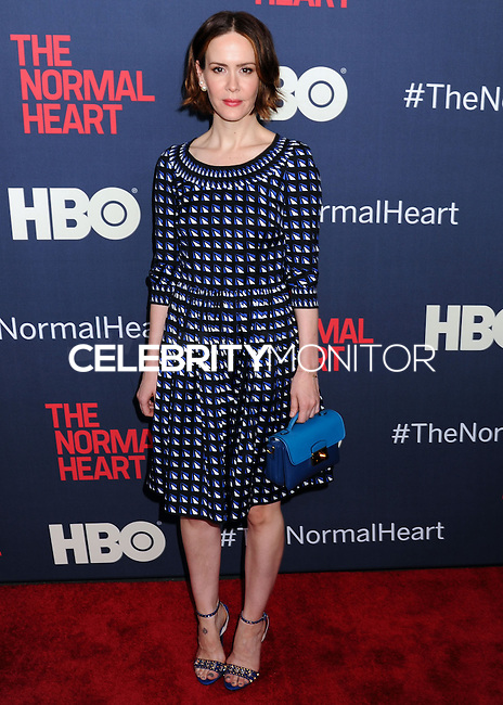 "NEW YORK CITY, NY, USA - MAY 12: Sarah Paulson at the New York Screening Of HBO's ""The Normal Heart"" held at the Ziegfeld Theater on May 12, 2014 in New York City, New York, United States. (Photo by Celebrity Monitor)"