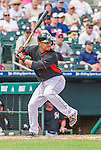 10 March 2015: Miami Marlins infielder Donovan Solano in Spring Training action against the Washington Nationals at Roger Dean Stadium in Jupiter, Florida. The Marlins edged out the Nationals 2-1 on a walk-off solo home run in the 9th inning of Grapefruit League play. Mandatory Credit: Ed Wolfstein Photo *** RAW (NEF) Image File Available ***