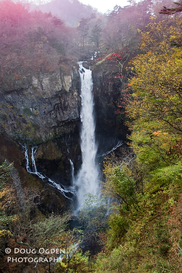 Kegon Falls with Fall colors, Nikko, Japan