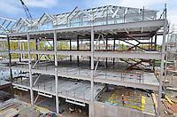 Camera View: Southeast. North Elevation, west end. Central Connecticut State University. New Academic Building.  Project No: BI-RC-324. Architect: Burt Hill Kosar Rittelmann Associates. Contractor: Gilbane Building Company, Glastonbury, CT.