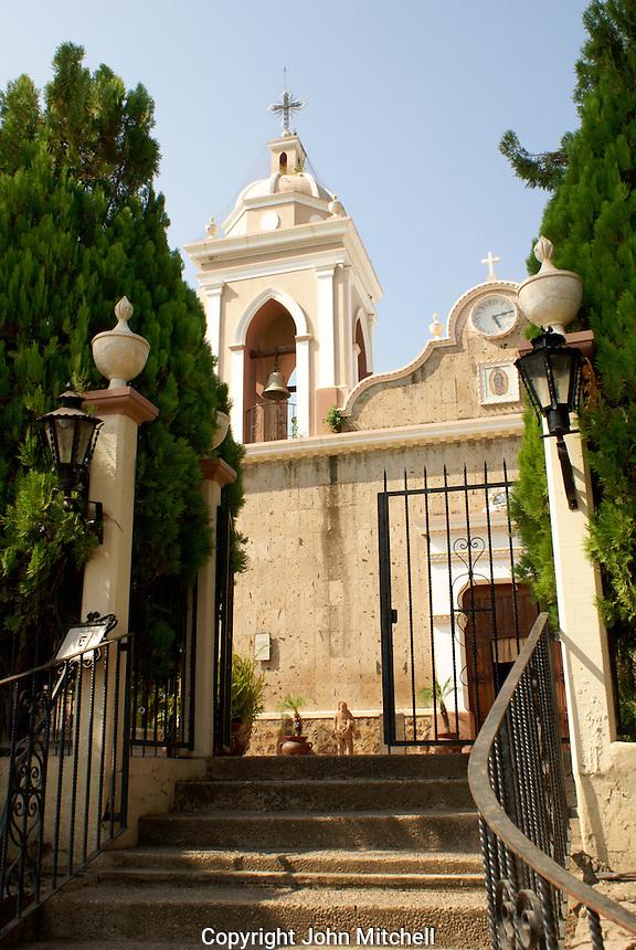 Nineteenth century church in the town of El Quelite near  Mazatlan, Sinaloa, Mexico