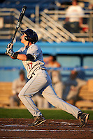 Mahoning Valley Scrappers outfielder Hunter Jones #17 during a NY-Penn League game against the Batavia Muckdogs at Dwyer Stadium on August 21, 2012 in Batavia, New York.  Batavia defeated Mahoning Valley 4-1.  (Mike Janes/Four Seam Images)