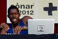 The experimental multi-genre music producer from Winnetka, California,.Flying Lotus (Steven Ellison) during his performer in 19th Advanced Music and Multimedia Art International Sonar Festival in Barcelona, Spain, Thursday, June 14, 2012. Sonar is widely considered to be the essential meeting point for an alert public, cutting-edge artists and the most influential professionals from the sectors of music and modern arts. NORTEPHOTO.COM