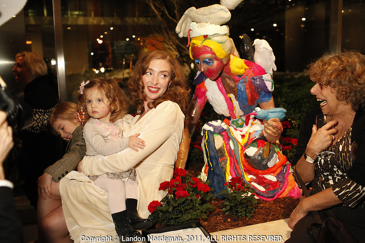 NEW YORK - JAN 26: Artist Rachel Feinstein installs work for her exhibition called The Snow Queen at the Lever House on Thursday, January 27, 2011, in New York City. (Photo by Landon Nordeman)