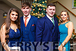 Amy Casey (Tralee), Michael Slattery (Tralee), Thomas O'Connor (Tralee) and Norett Casey (Tralee) attending the Mercy Mounthawk debs in the Ballyroe Heights Hotel on Thursday night last.