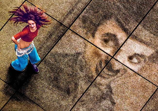 &ldquo;Dancer&rdquo;  in Place Pompidou.        Don Bierman<br /> <br /> Artist Print  (19.2 x 13.9h    180ppi   ProPhoto)  2014